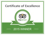 Trip Advisor Certificate of Excellence Winner 2015